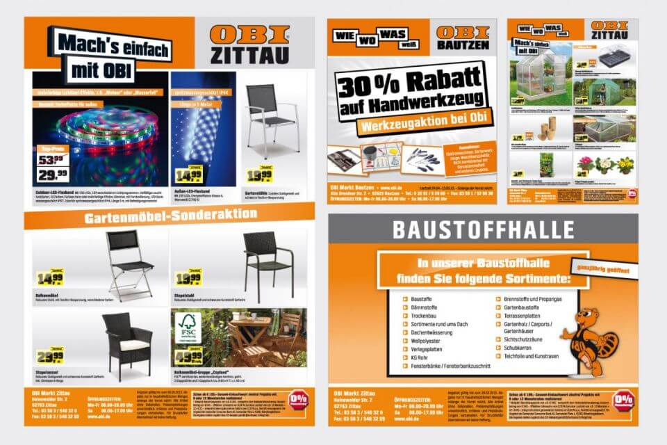 Prospekte für OBI Zittau
